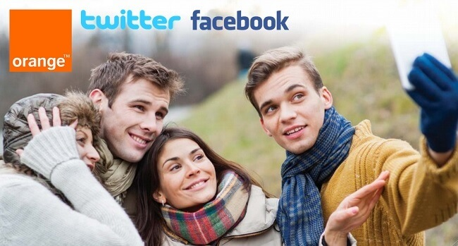Orange Colibrí Facebook Twitter
